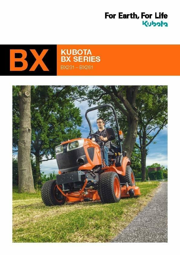 EG Coles Kubota BX Series Brochure