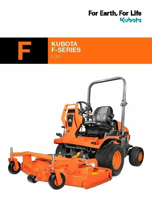 EG Coles Kubota F Series Mower Brochure