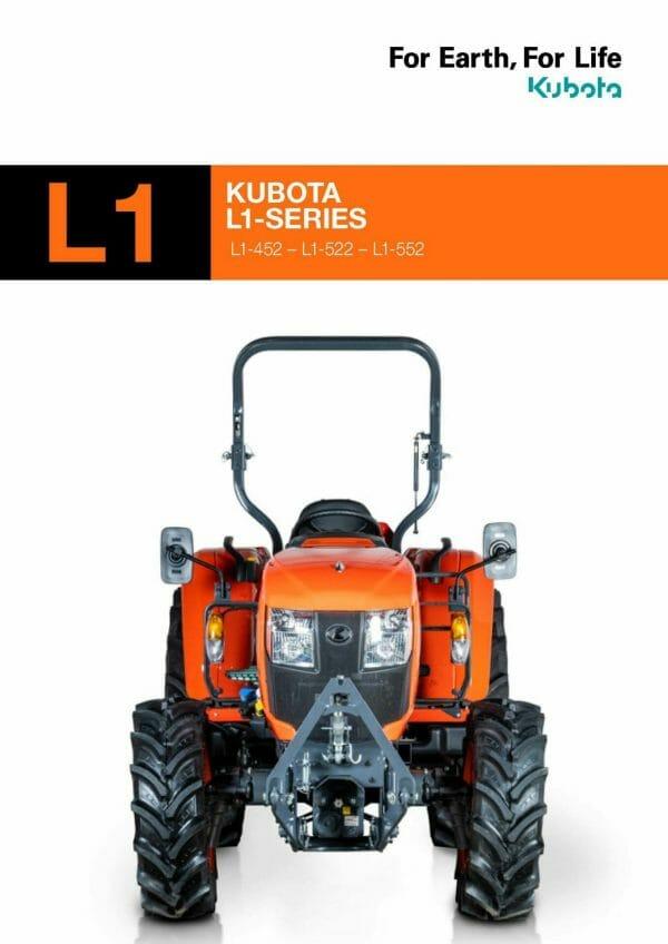 EG Coles Kubota L1 Series Compact Tractor Brochure