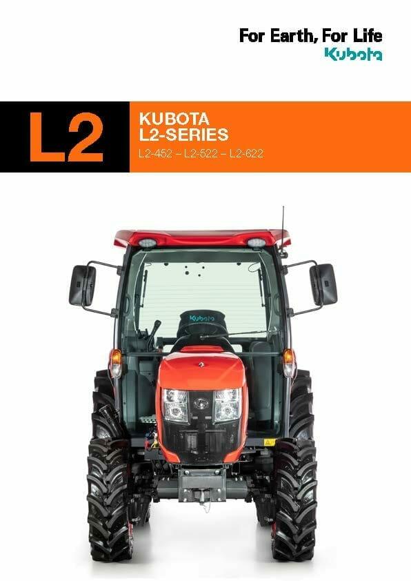 EG Coles Kubota L2 Compact Tractor Brochure