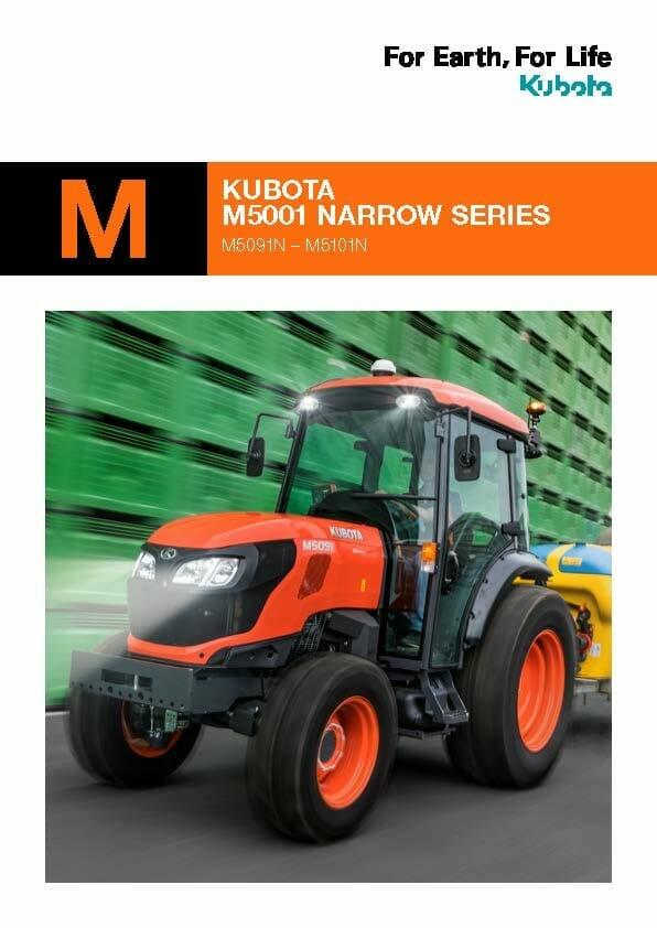 Kubota M5 Narrow Series Brochure Cover EG Coles