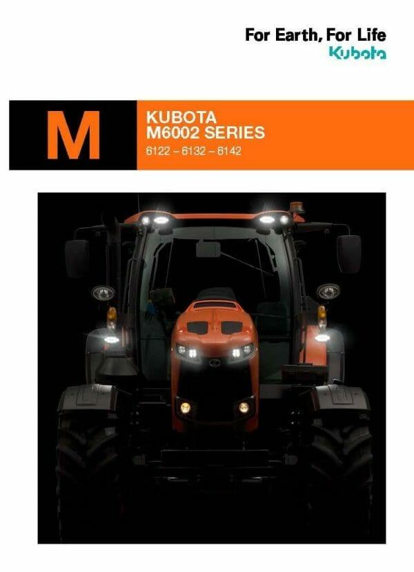 Kubota M6 Brochure front page