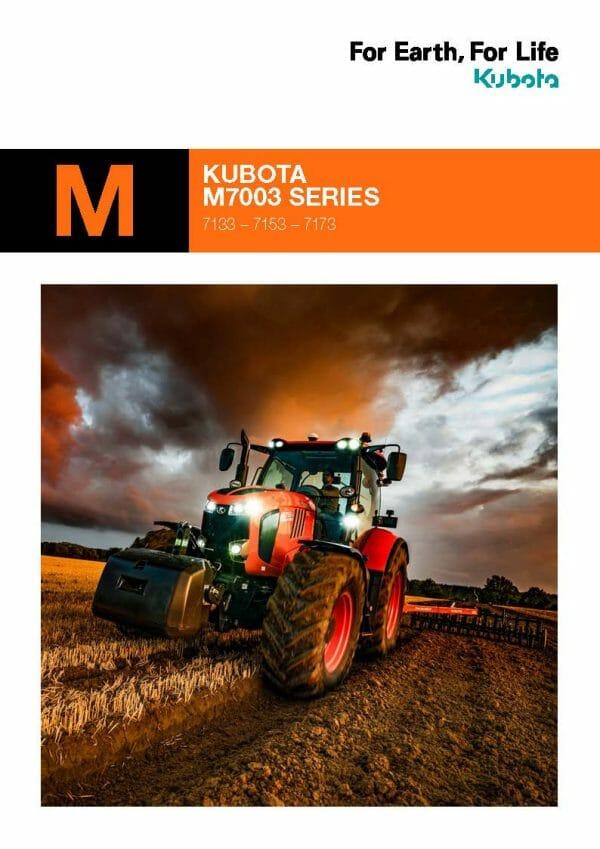 Kubota M7003 Brochure front page